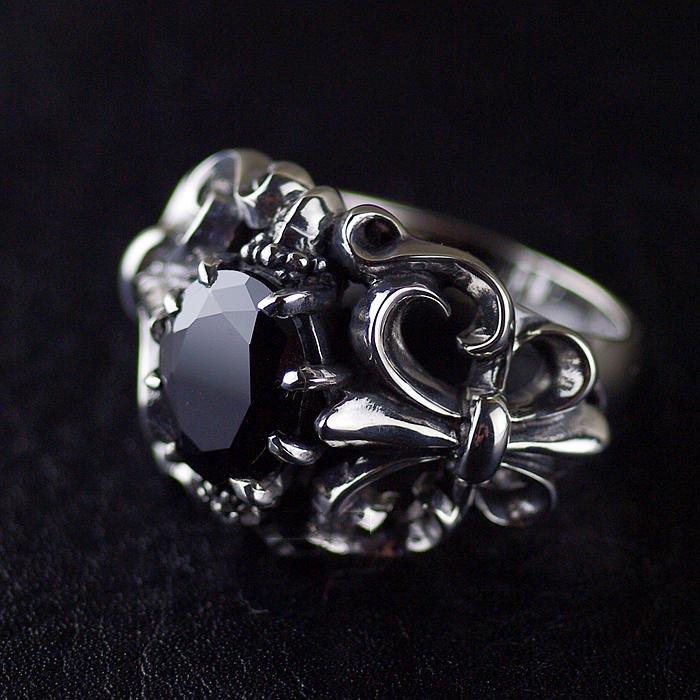 Japan Gothic Jewelry Flower Anchor Black Diamond Gothic