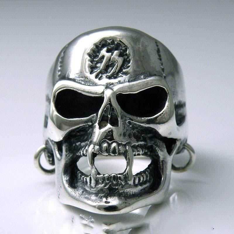 Japan Gothic Jewelry Skeleton Head Wearing Earrings 925 Sterling ...