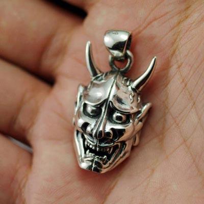 Japan gothic jewelry oriental vibrations 925 sterling silver devil silver pendant men pendant sale aloadofball Images