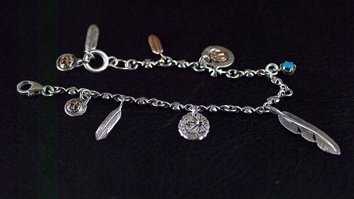 Japan Gothic Jewelry 925 Sterling Silver Goro Style Gothic Silver Bracelet (Female Bracelet)