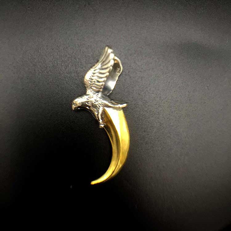 Goro eagle with golden horn Pendant