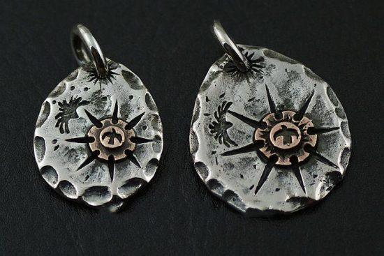 Japan Gothic Jewelry Indiana goro Style Sun Tolem 925 Sterling Silver Pendant (Men Pendant)